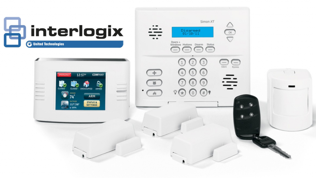 An image of alarm security components manufactured by Interlogix who closed their Alarm systems business in 2019.