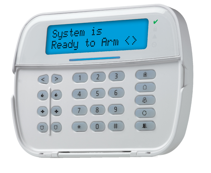 An example of keypads available with your security system from Colonnade Security Inc